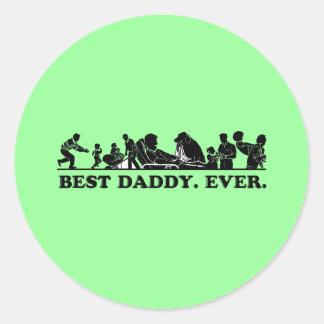 Best Daddy. Ever. Classic Round Sticker