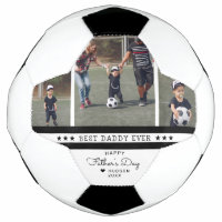 Best Daddy Ever | Father's Day 3 Photo Collage Soccer Ball