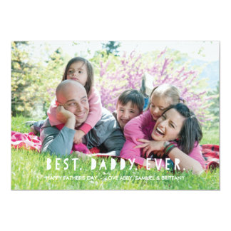Best. Daddy. Ever. Father's Day Card - Red