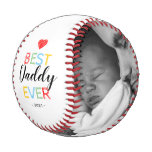 Best Daddy Ever Gift Photo Baseball