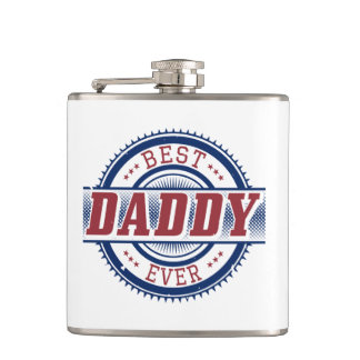 Best Daddy Ever Vinyl Wrapped Flask