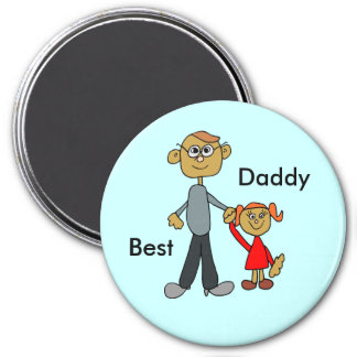 Best Daddy Father's Day Father Daughter Cartoon Magnet
