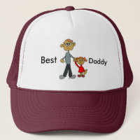 Best Daddy Father's Day Father Daughter Cartoon Trucker Hat