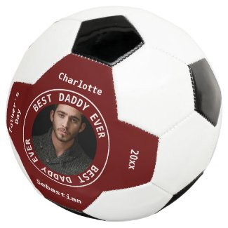 Best Daddy Fathers Day Photo Personalized Soccer Ball
