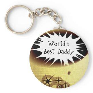 Best Daddy Keychain keychain