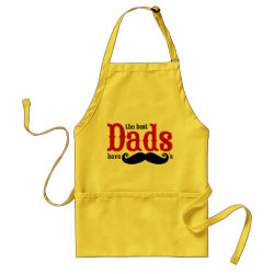 Apron with The Best Dads Have Moustaches design