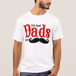 Men's Basic T-Shirt with The Best Dads Have Moustaches design