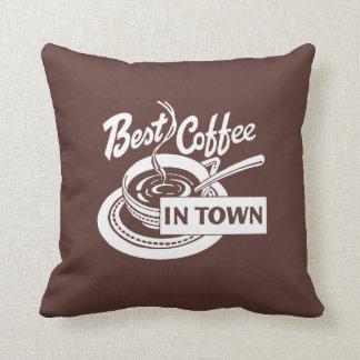 Best Dark Coffee in Town Throw Pillow