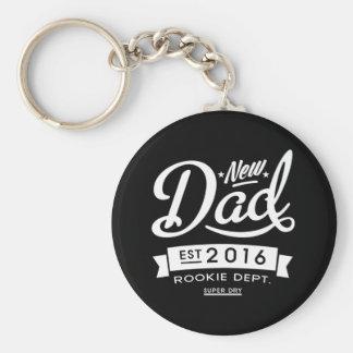 Best Dark New Dad 2016 Basic Round Button Keychain