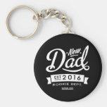 Best Dark New Dad 2016 Keychain