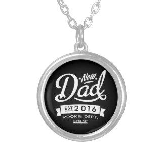 Best Dark New Dad 2016 Round Pendant Necklace