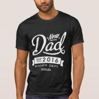 Best Dark New Dad 2016 T-shirt