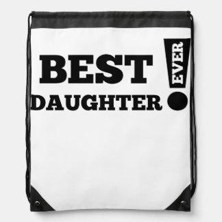 Best Daughter Ever Drawstring Bag