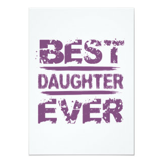 Best DAUGHTER Ever Grunge Style Purple Text Gift Card