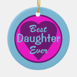 Best Daughter Ever Personalized Photo Ornament