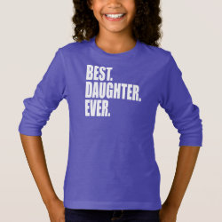 Girls' Basic Long Sleeve T-Shirt with Best. Daughter. Ever. (purple) design
