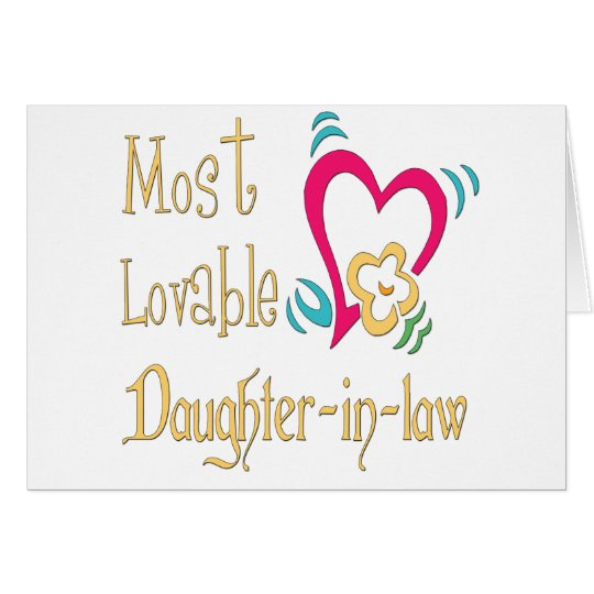 Best Daughter-in-law Gifts Card