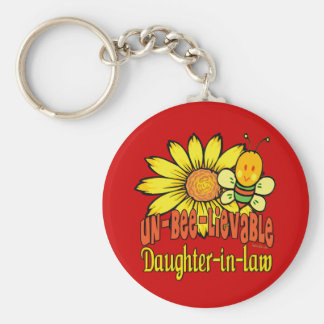 Best Daughter-in-law Gifts Basic Round Button Keychain