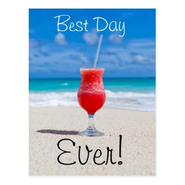 Beach Themed Best Day Beach Postcard