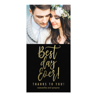 Best Day Ever EDITABLE COLOR Thank You Cards