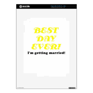 Best Day Ever Im Getting Married Decals For The iPad 2
