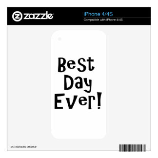 Best Day Ever! iPhone 4S Decals