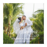 Best Day Ever Personalized Wedding Canvas Print