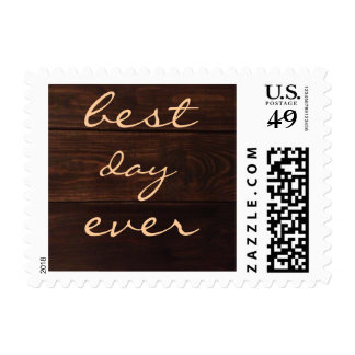 Best day ever... Postage Stamp Wedding Invitation