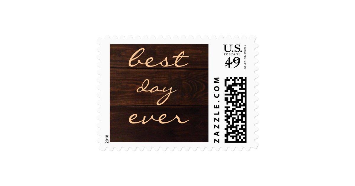 Best Day Ever Postage Stamp Wedding Invitation Zazzle