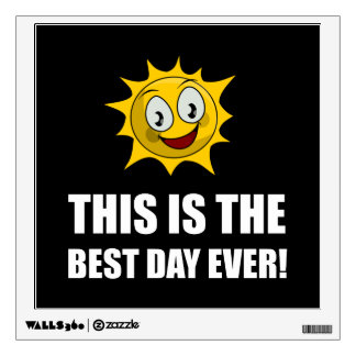 Best Day Ever Sunshine Wall Decal