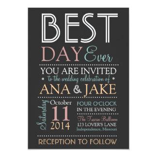 BEST DAY EVER Wedding Invitation- COLORFUL Edition Invitation