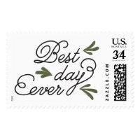 Best Day Ever Wedding Stamp