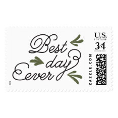 Best Day Ever Wedding Stamp at Zazzle