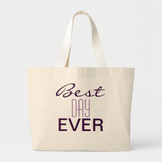 BEST DAY EVER Wedding TOTE Jumbo Tote Bag