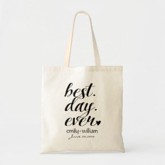 """Best Day Ever"" Wedding Welcome bag,Wedding Favor Tote Bag"