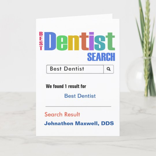 best dentist search thank you card  zazzle