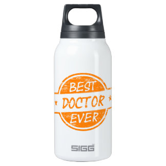Best Doctor Ever Orange 10 Oz Insulated SIGG Thermos Water Bottle
