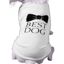 Best dog bowtie cute funny dog puppy wedding shirt