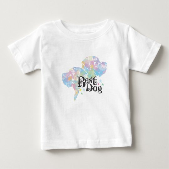"""Best Dog """"colored"""" Baby T-Shirt"""
