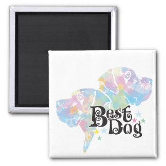 "Best Dog ""colored"" Magnet"