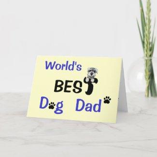 Best Dog Dad zazzle_card
