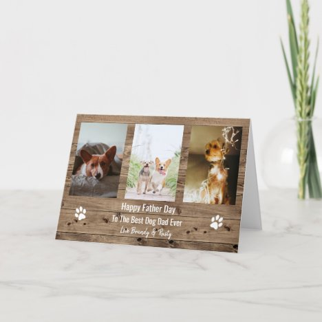 Best Dog Dad Ever Photo Father Day Holiday Card