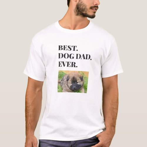 Best Dog Dad Ever Photo T_Shirt
