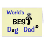 Best Dog Dad Greeting Card