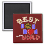 Best Dog Dad in the World Gifts - Father's Day 2 Inch Square Magnet