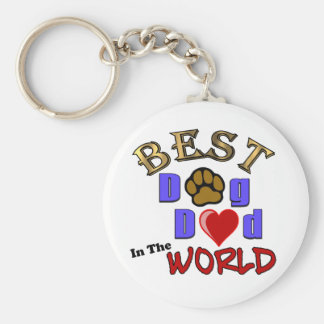 Best Dog Dad in the World Gifts - Father's Day Keychain