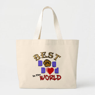 Best Dog Dad in the World Gifts - Father's Day Large Tote Bag