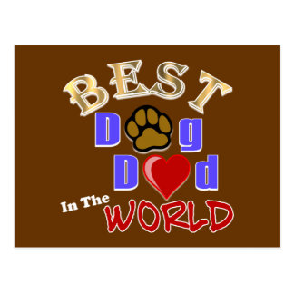 Best Dog Dad in the World Gifts - Father's Day Postcard