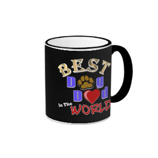 Best Dog Dad in the World Gifts - Father's Day Ringer Coffee Mug