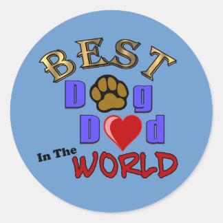 Best Dog Dad in the World Sticker